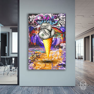 "Skulpta Canvas Print 30x45cm / 12x18"" / Rolled Canvas ・""Cash-Cream""・"