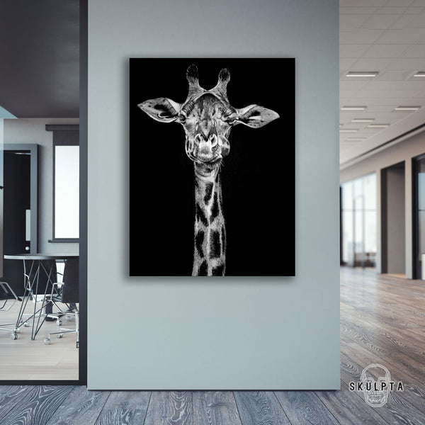 "Skulpta Canvas Print 30x45cm / 12x18"" / Rolled Canvas · ""Giraffe Power""・"