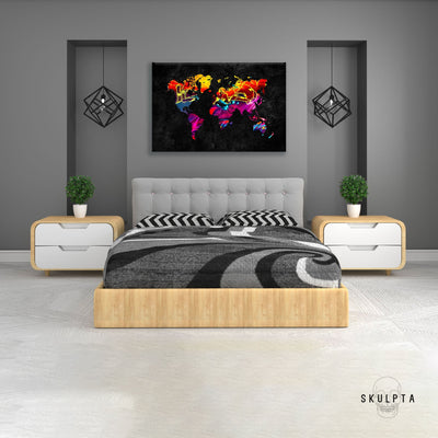 "Skulpta Canvas Print 30x45cm / 12x18"" / Rolled Canvas ・""Graffiti Map""・"