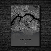 "Skulpta Canvas Print 30x45cm / 12x18"" / Rolled Canvas / Grey ・""SINGAPORE""・"
