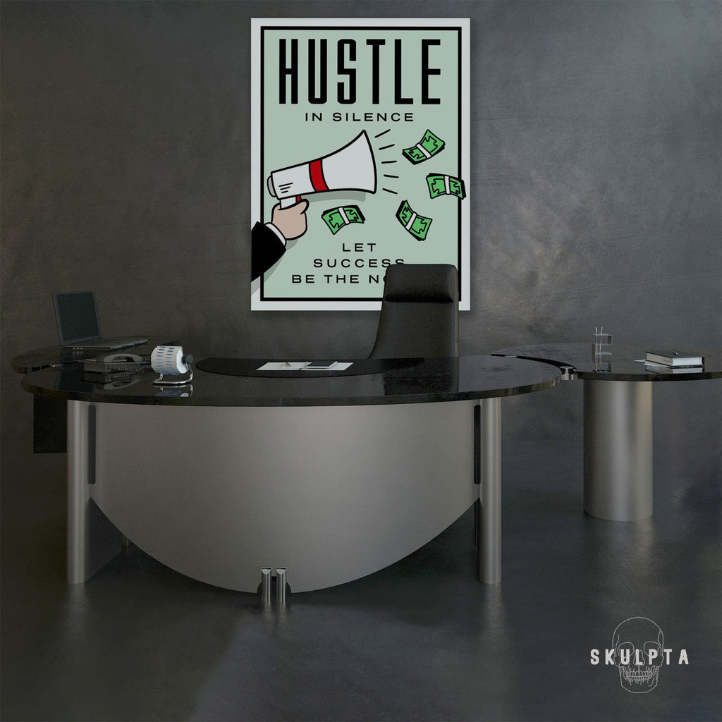 "Skulpta Canvas Print 30x45cm / 12x18"" / Rolled Canvas ・""Hustle... in Silence""・"