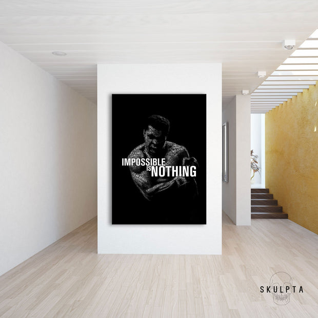 "Skulpta Canvas Print 30x45cm / 12x18"" / Rolled Canvas ・Impossible Is Nothing・"
