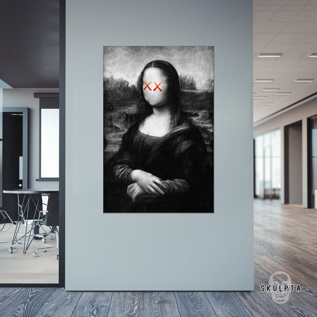 "Skulpta Canvas Print 30x45cm / 12x18"" / Rolled Canvas ・Mocking Lisa・"