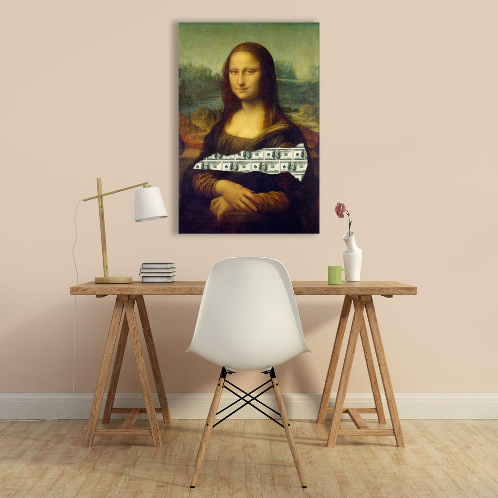 "Skulpta Canvas Print 30x45cm / 12x18"" / Rolled Canvas ・""Money Lisa""・"