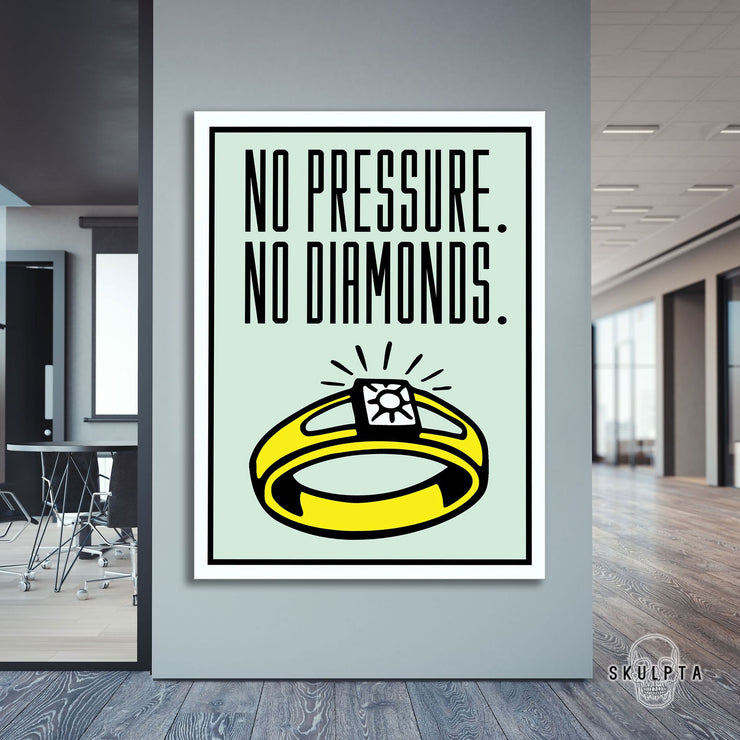 "Skulpta Canvas Print 30x45cm / 12x18"" / Rolled Canvas ・""No Pressure""・"