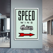 "Skulpta Canvas Print 30x45cm / 12x18"" / Rolled Canvas ・""Speed Wins""・"