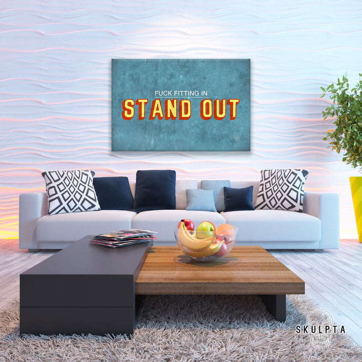 "Skulpta Canvas Print 30x45cm / 12x18"" / Rolled Canvas ・""Stand OUT""・"