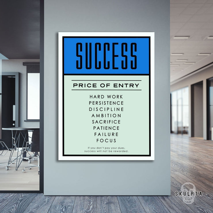 "Skulpta Canvas Print 30x45cm / 12x18"" / Rolled Canvas ・""Success, price of Entry""・"