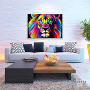 "Skulpta Canvas Print 30x45cm / 12x18"" / Rolled Canvas ・""The Lion Face""・"