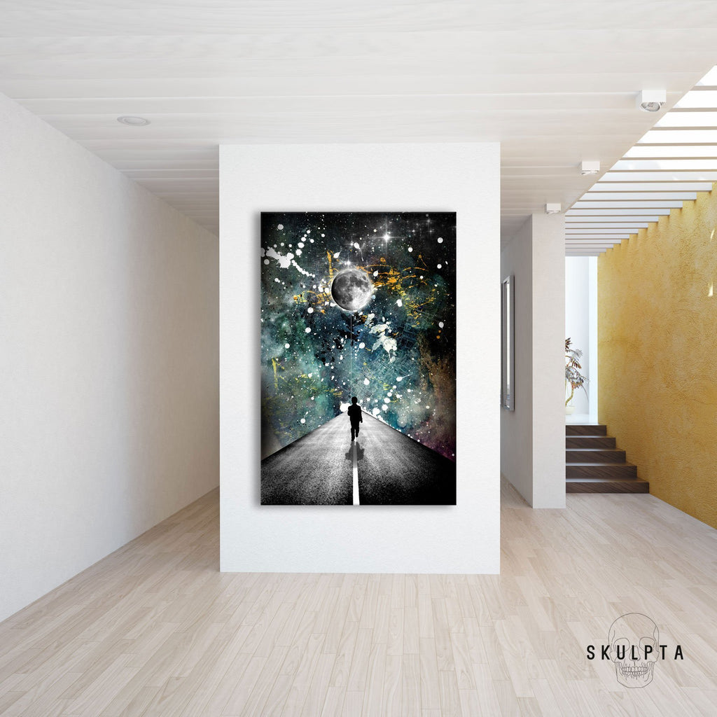 "Skulpta Canvas Print 30x45cm / 12x18"" / Rolled Canvas ・""The road... ""・"