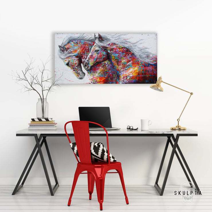 "Skulpta Canvas Print 30x60cm / 12x24"" / Rolled Canvas ・""Horse Power""・"