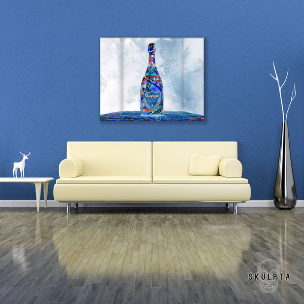 "Skulpta Canvas Print 32x40cm / 12.6x16"" / Rolled Canvas ・""Champagne""・"