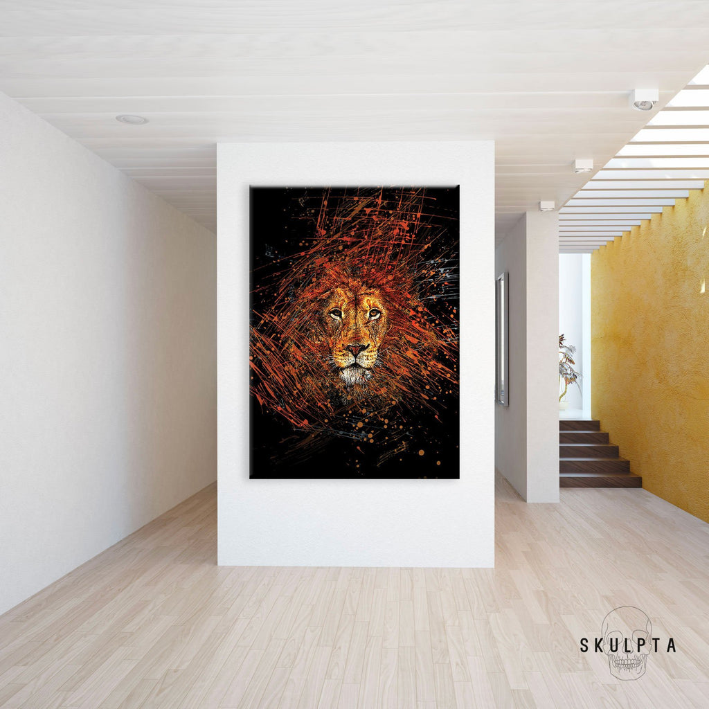 "Skulpta Canvas Print 40x60cm / 16x24"" / Rolled Canvas ・""The King of the Jungle""・"
