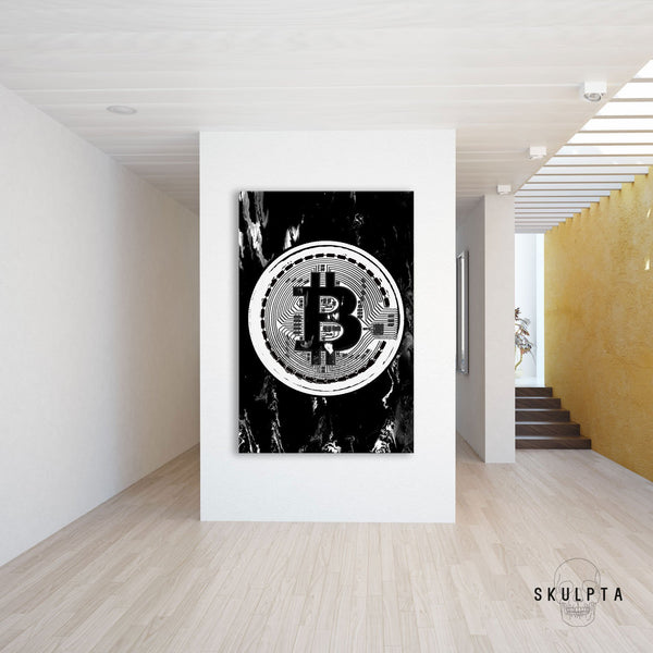 "Skulpta Canvas Print 45x60cm / 18x24"" / Rolled Canvas ・""BitCoin Era""・"