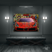 "Skulpta Canvas Print ・""Cartoon Ferrari""・"