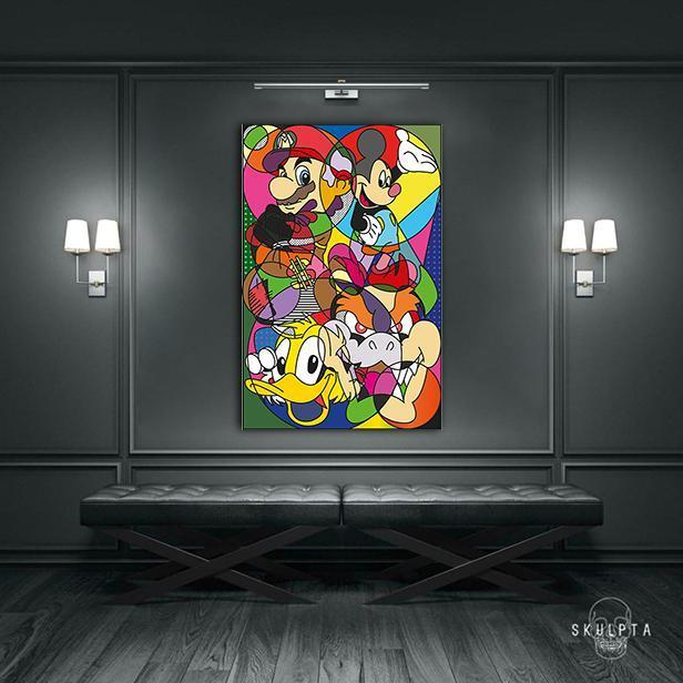 "Skulpta Canvas Print ・""Cartoon Love""・"