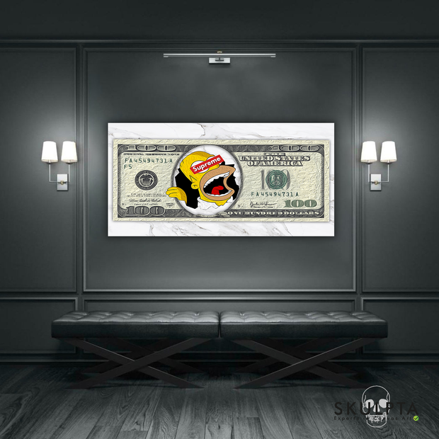 "Skulpta Canvas Print ・""Dollar Homer""・"