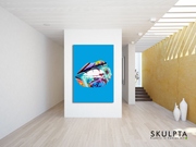 "Skulpta Canvas Print ・""Light-Blue Graffiti ""・"