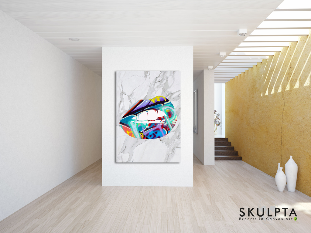 "Skulpta Canvas Print ・""Marble Graffiti ""・"