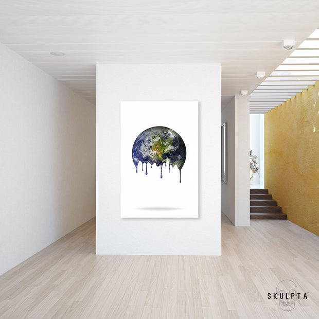 "Skulpta Canvas Print ・""Melting Point - White""・"