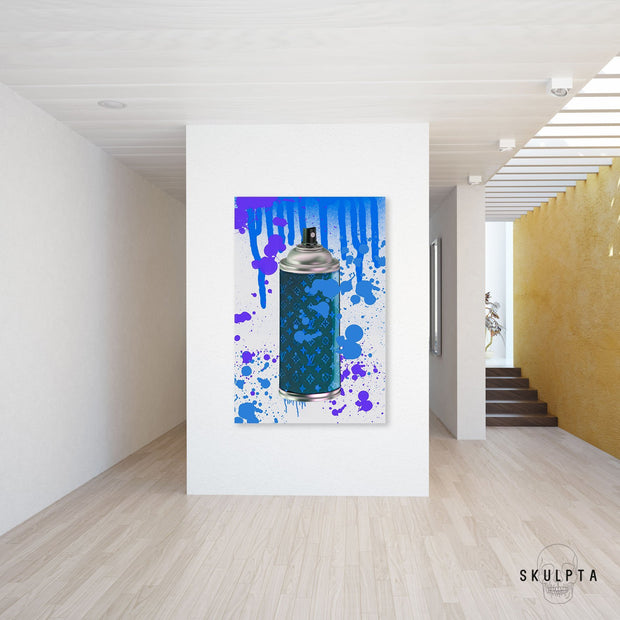 "Skulpta Canvas Print ・""Stylish Spray - Blue""・"