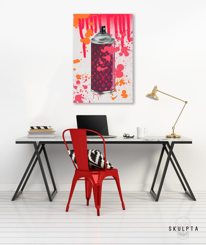 "Skulpta Canvas Print ・""Stylish Spray - Red""・"