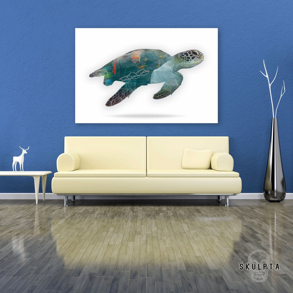 "Skulpta Canvas Print ・""Turtle's Pain""・"