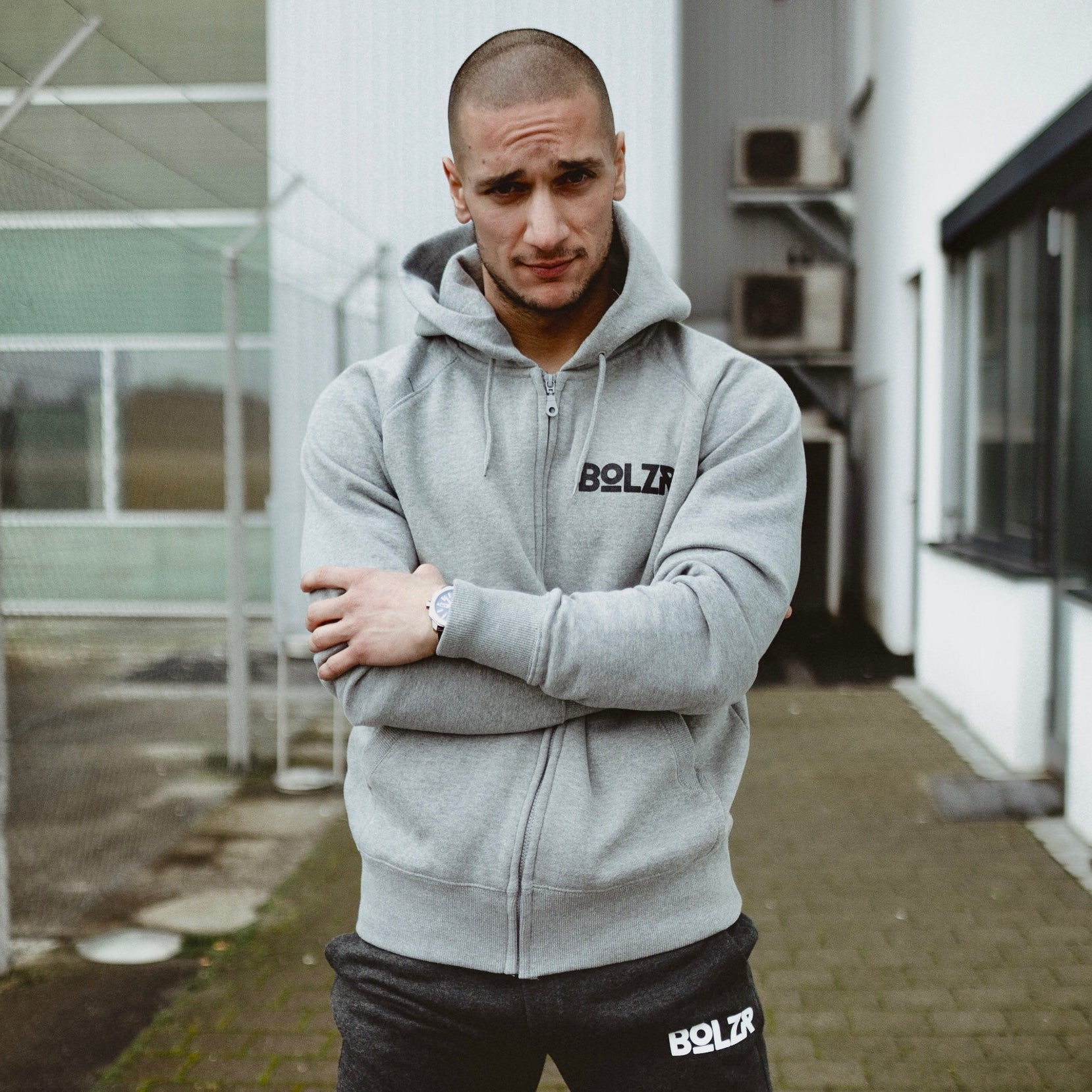 Bolzr Trainingsjacke | Grau