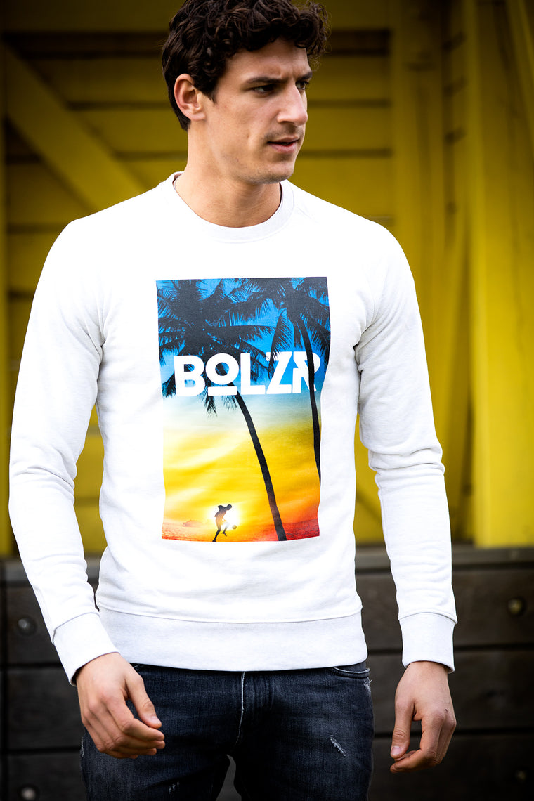 Bolzr Sweater | Grauweiß - playa BOLZR