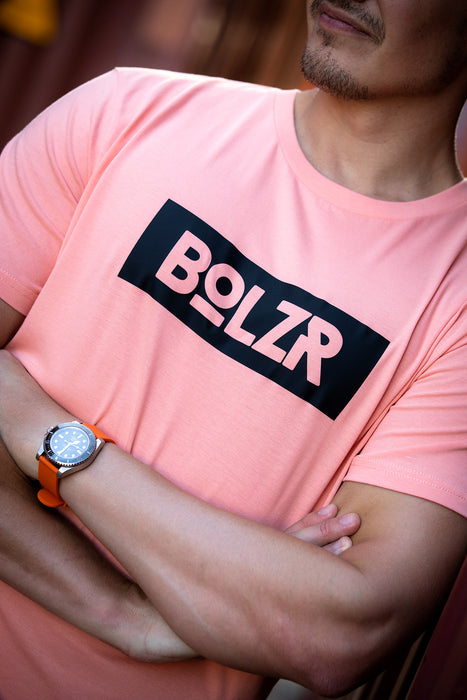 Bolzr T-Shirt | Sunset-Orange & Schwarz
