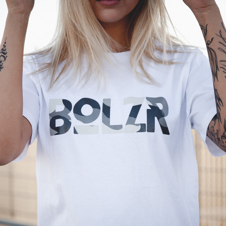 Bolzr T-Shirt | Girls | Weiß & Camou