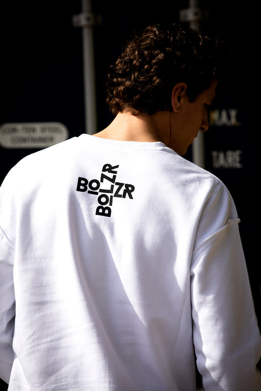 Bolzr Sweater Oversized | Weiß