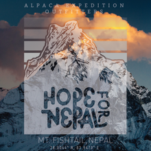 Alpaca Expedition Outfitters Hope For Nepal T-Shirt
