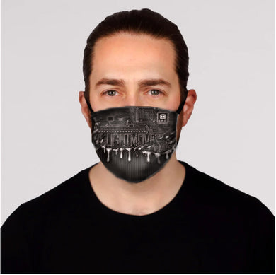 GFC Dripping Face Mask (Grayscale)