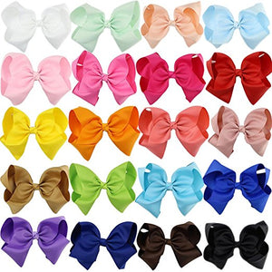 3 Pack of Blinged 8-inch Hair Bows - You Choose Color