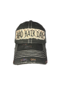 Distressed Charcoal Bad Hair Day Hat