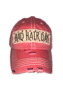 Distressed Pink Bad Hair Day Hat