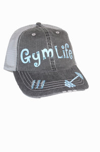 "Beautiful Glitter Font ""Gym Life"" Hat"