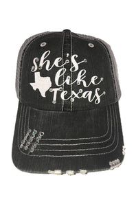 Beautiful Glitter She's Like Texas Hat with Swarovski Crystals