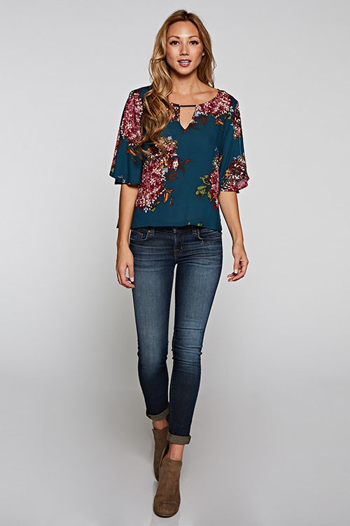All Over Floral Printed Top