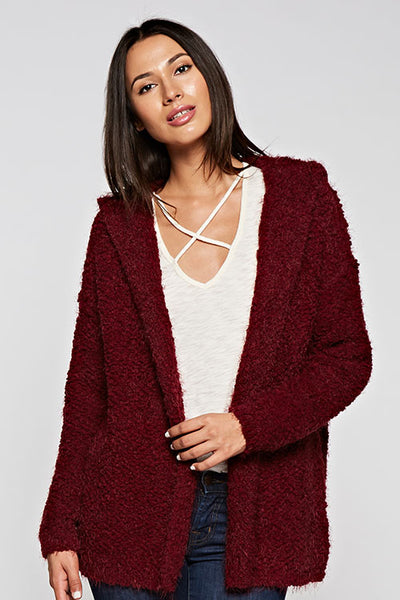 Laurel Hooded Open Cardigan