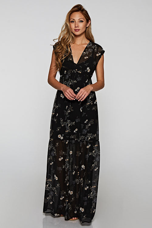 All Over Floral Maxi Dress