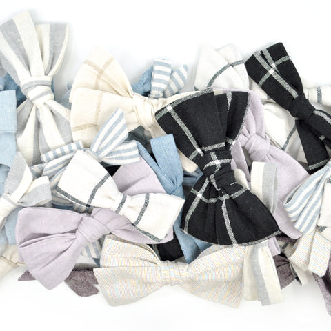 LINEN BOWS & BOW TIES