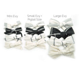 Linen Evy Bow in 11 colors, Newborn Headband or Clip