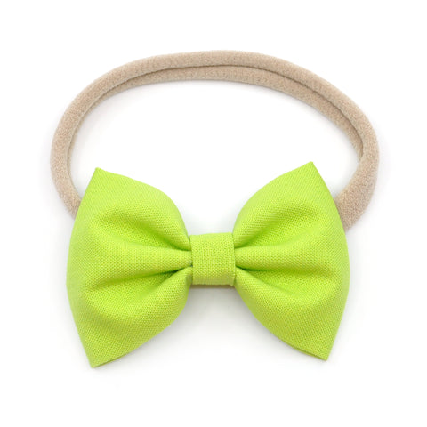 Lime Green Belle Bow
