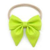 Lime Green Elle Bow, Toddler Hairbow