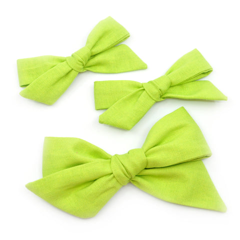 Lime Green Evy Bow