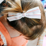 Ebony & Gold Tinsel Leni Bow, Infant or Toddler Hair Bow
