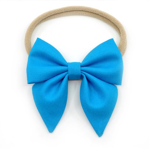Cerulean Blue Elle Bow, Toddler Hairclip