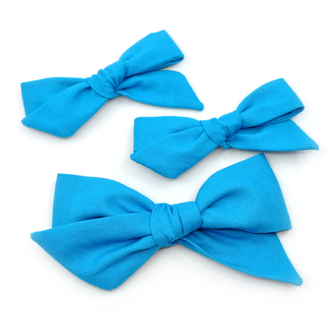 Cerulean Blue Evy Bow, Newborn Hairbow
